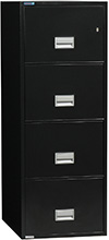 Phoenix 4-Drawer Vertical Legal Size Fireproof Cabinet