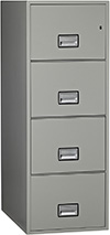 Phoenix 4-Drawer Legal Gray Fireproof Filing Cabinet