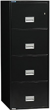 Phoenix 4-Drawer Letter Black Fireproof Filing Cabinet